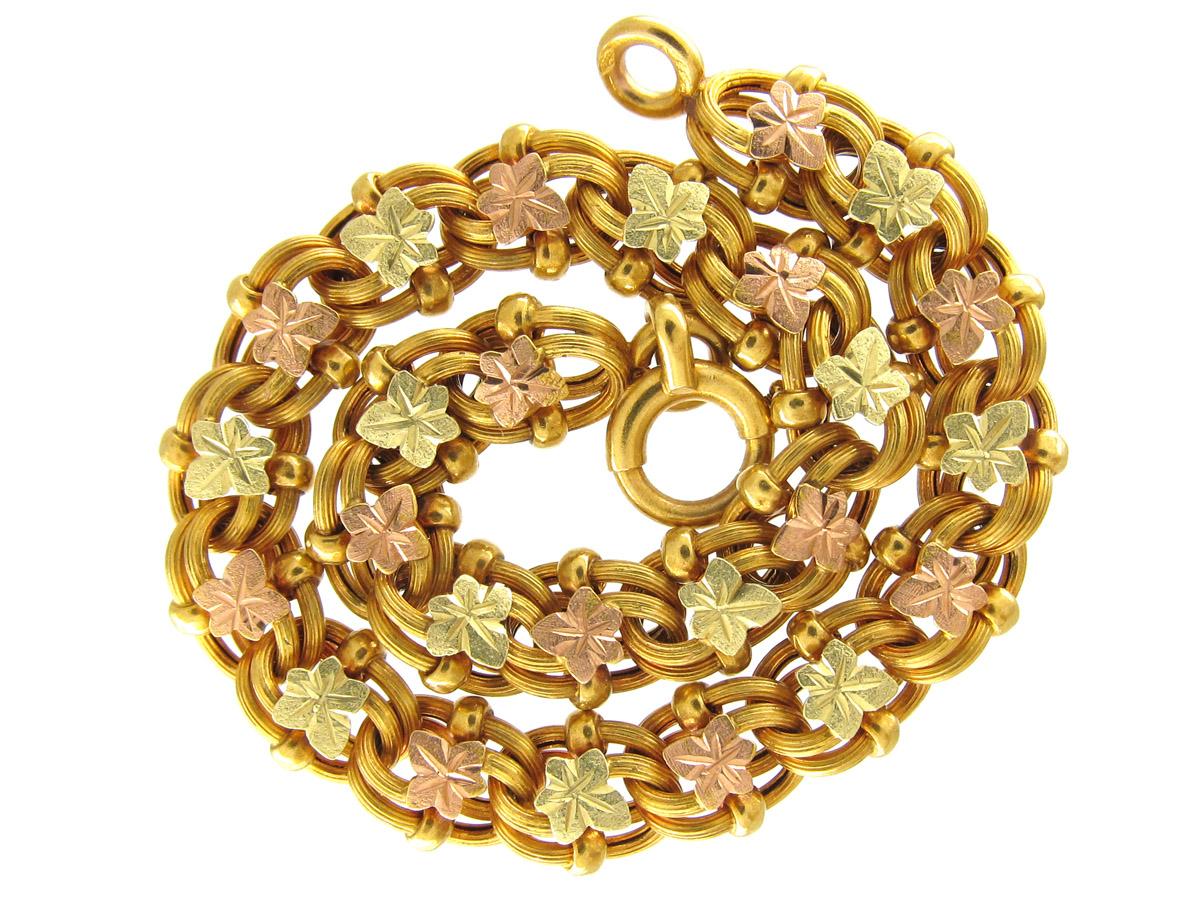 Fin de Siècle Three Colour Gold Bracelet