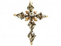 Gold Swiss Enamel Regency Cross