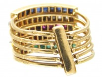 French Multi Gem Harem Ring