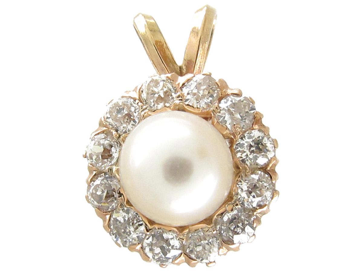 Pearl & Diamond Cluster Pendant
