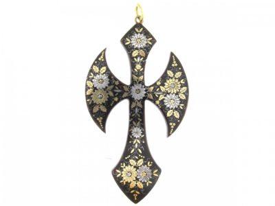 Tortoiseshell Pique Cross