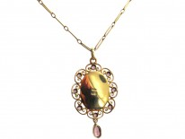 15ct Gold Pendant on Chain by Murrle Bennett