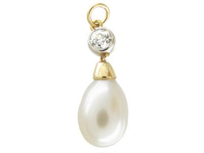 Pearl & Diamond Renaissance Style Pendant