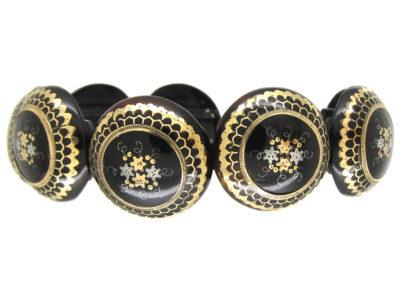Victorian Tortoiseshell Piqué Bracelet