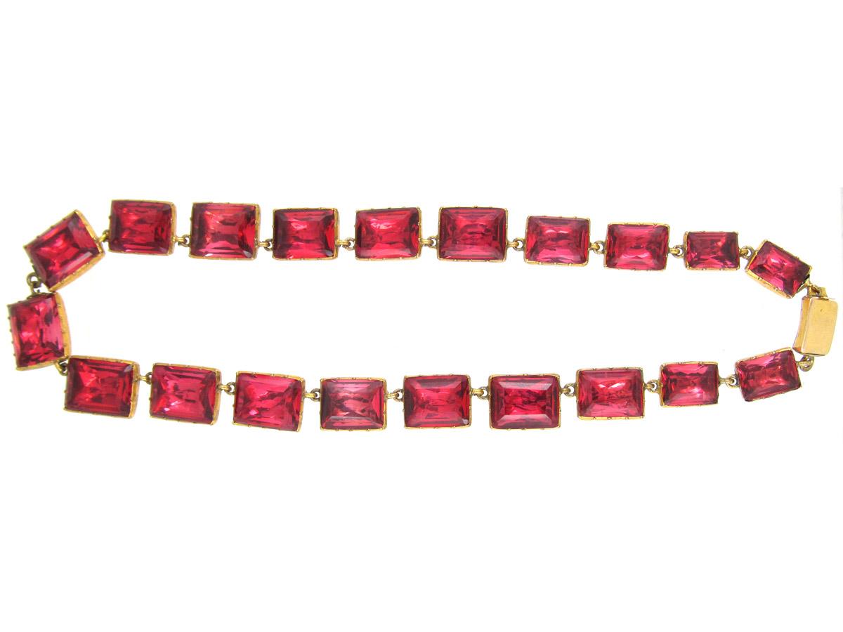 Georgian Pink Paste Collar