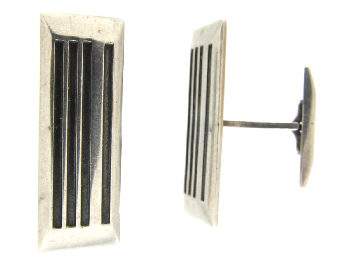 Silver Norwegian Cufflinks by Toni Wigeland