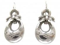 Victorian Silver Acorn Earrings