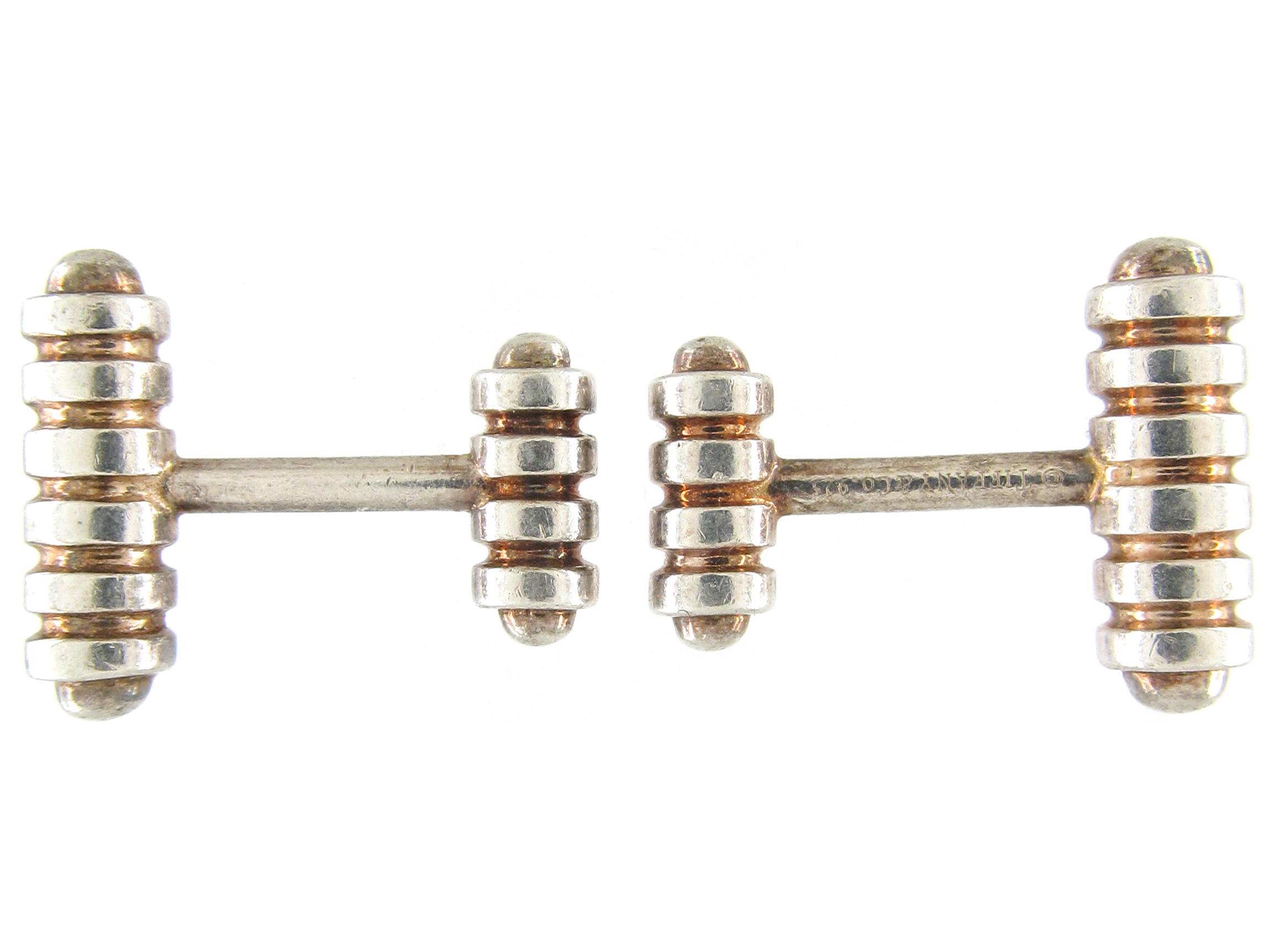 Tiffany & Co. Silver & Silver Gilt Cufflinks