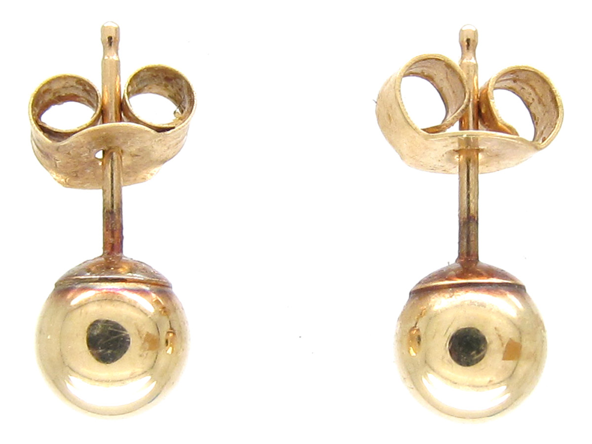 Pair of 9ct Gold Ball Earrings