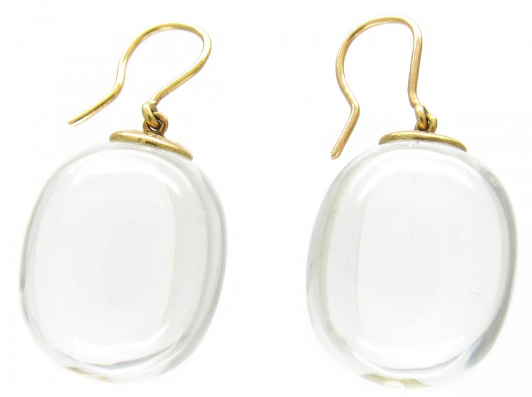 Rock Crystal Earrings by Baccarat