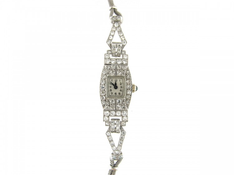 Diamond Art Deco Watch