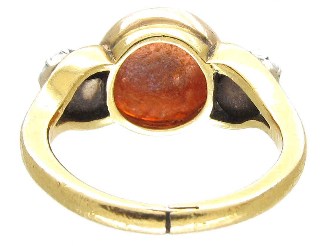 Roman Glass Intaglio Ring