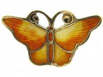 Yellow Enamel Butterfly by David Andersen