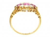 Burma Ruby & Diamond Cluster Ring