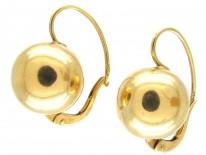 Gold Ball Earrings