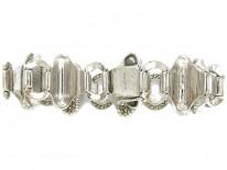 Theodor Fahrner Silver & Marcasite Switchback Bracelet
