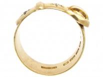 Victorian Diamond & 18ct Gold Buckle Ring