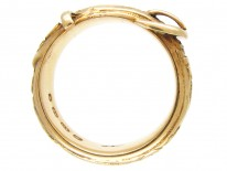 Victorian Carved 18ct Gold Buckle Ring