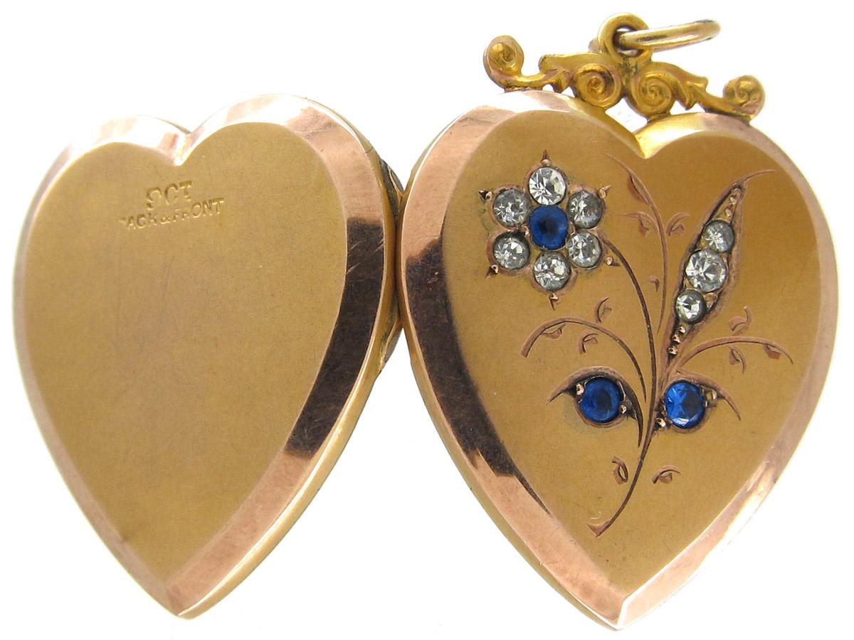 Edwardian Gold & Paste Heart Locket
