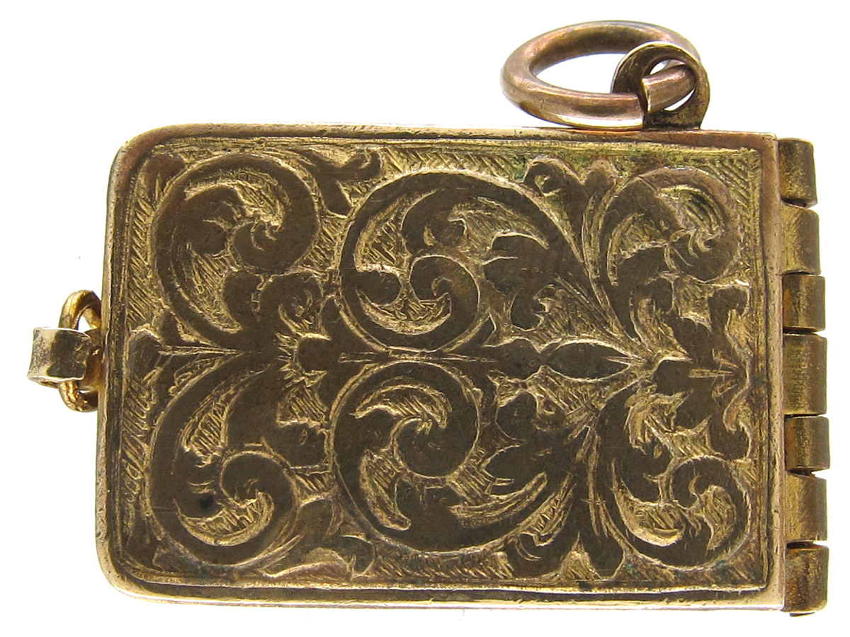 Enamel & Metal 1902 Coronation Book Charm