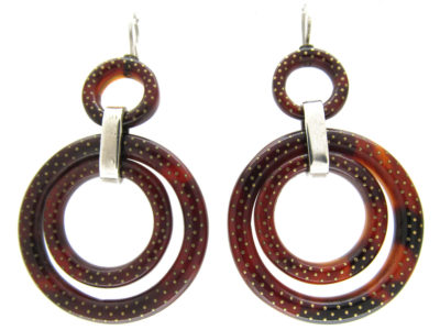 Victorian Tortoiseshell Double Hoop Earrings