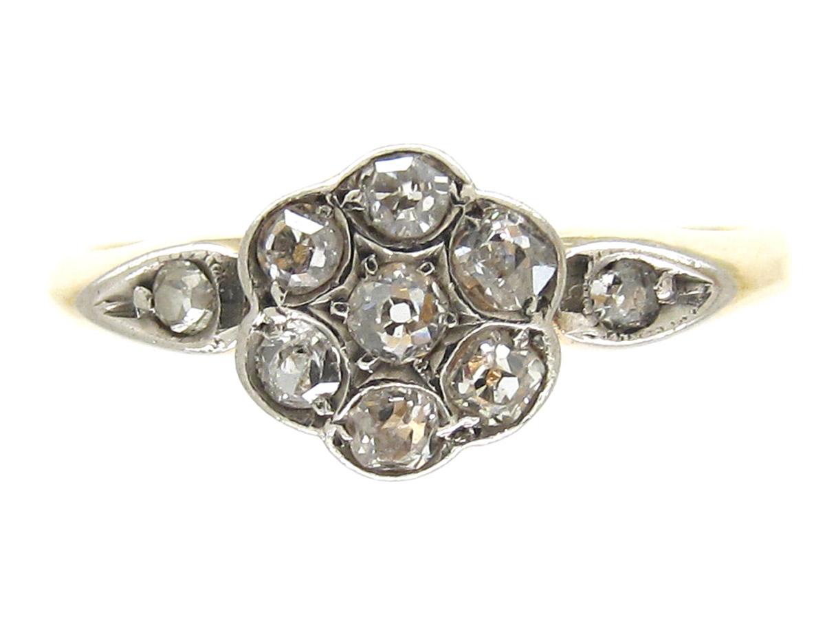 Diamond Flowerhead Cluster Ring