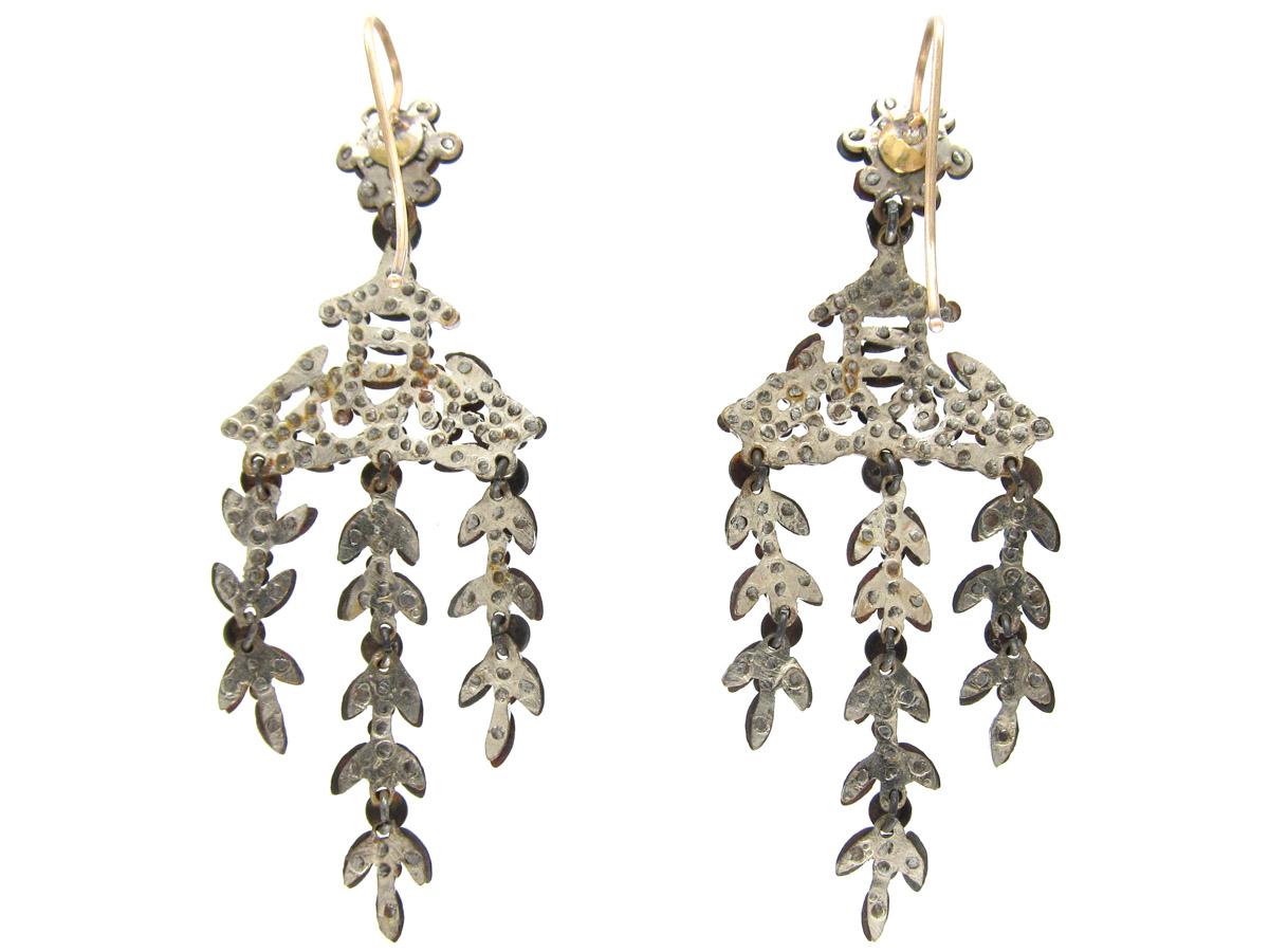 Georgian Cut Steel Earrings