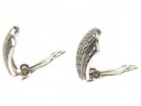 Silver & Marcasite Art Deco Clip Earrings
