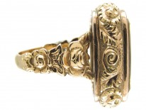 Victorian 15ct Gold & Citrine Seal Ring