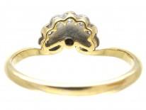 Art Deco Diamond Platinum & 18ct Gold Fan Ring