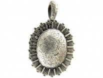 Silver Oval Victorian Locket