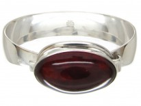 Silver & Amber Bangle by Niels Erik From