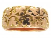 9ct Gold Shamrock Ring