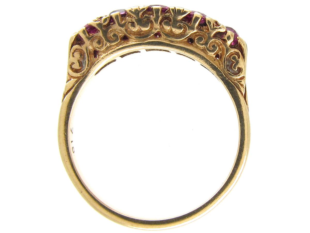 Edwardian Ruby Five Stone Ring