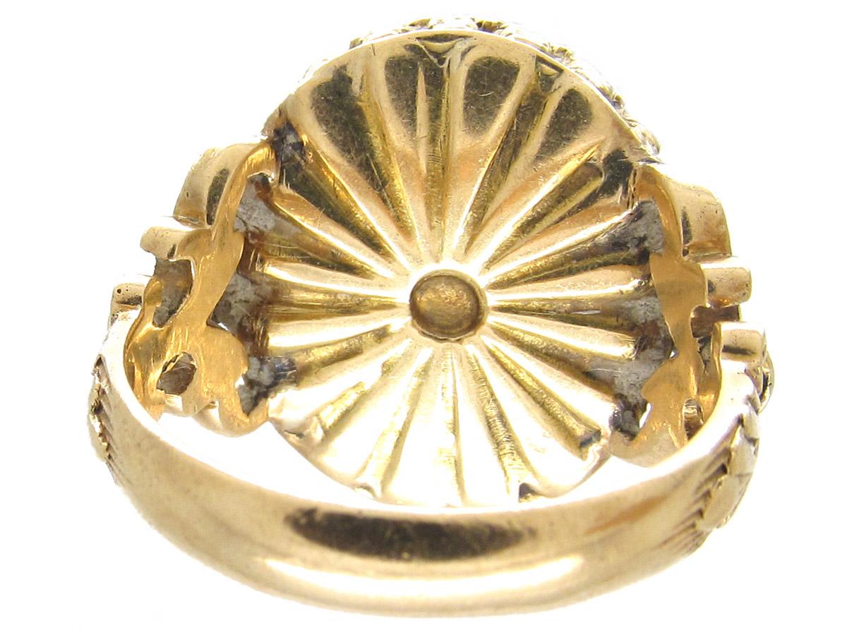Russian Bloodstone Signet Ring