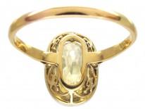 Edwardian Yellow Sapphire & Diamond Ring