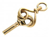 Victorian Gold-Cased Knot Watch Key