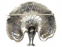 Silver Paste Peacock Booch