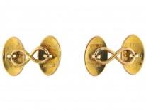 Victorian 18ct Gold Oval Cufflinks