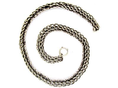 Victorian Silver Woven Collar