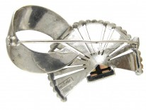 Theodor Fahrner Silver, Marcasite & Opal Brooch