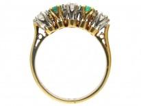 Emerald & Diamond Five Stone Ring