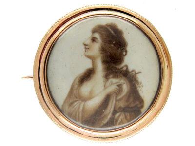 Georgian Gold Miniature Brooch