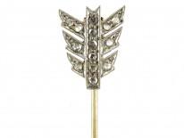 Edwardian 15ct Gold & Platinum Diamond Arrow Brooch