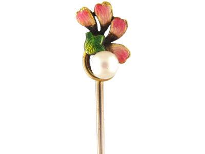 Jubilee Enamel 15ct Gold Stick Pin