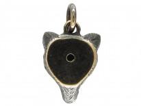 Diamond & Enamel Fox Head Charm