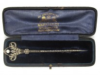 Edwardian Diamond Set Fleurs de Lys Brooch