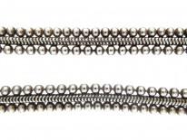 Edwardian Silver Victorian Bobble & Weave Collar