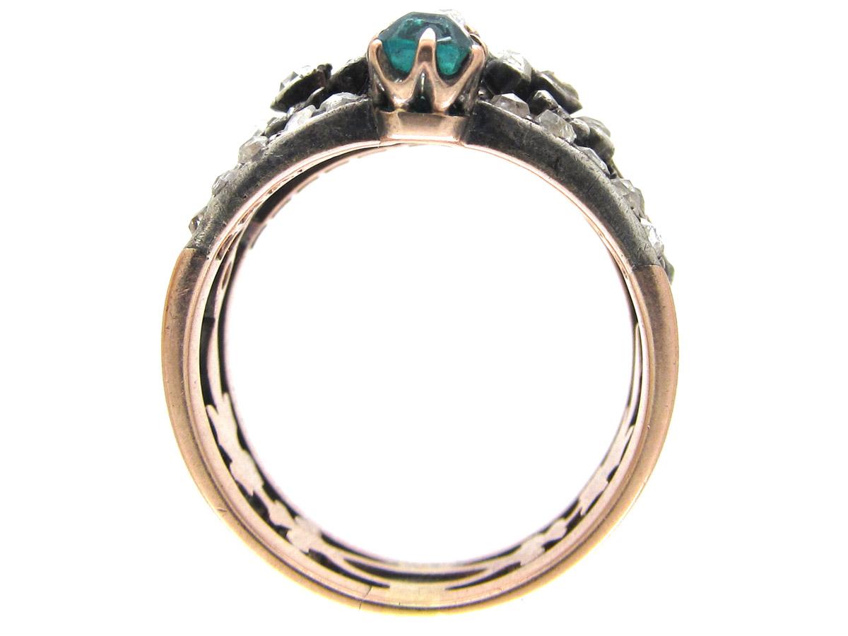 Diamond, Emerald & Ruby Belle Epoque Ring