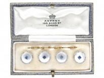 Asprey 18ct, Platinum & Sapphire Buttons